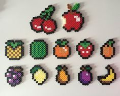 Fruit Magnets Perler Bead