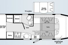 Sprinter Van RV Floor Plans