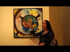 Gaia Orion presents her painting Our Journey at the Dreams and Divinities International Visionary Show in Toledo, Spain in 2013 (In French).