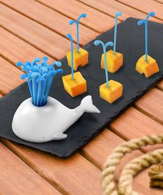 Whale Tooth Pick Set - this would be perfect for a nautical themed party, beach wedding reception, etc...