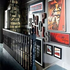i like the look of this area as well as the book shelf to use the awkward space behind the staircase