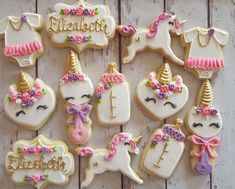 Einhorn-Baby-Dusche-Cookies – - All You Need To Know About Baby Shower Unicorn Baby Shower Decorations, Baby Shower Themes, Baby Boy Shower, Baby Shower Favors, Shower Ideas, Baby Shower Cupcakes, Shower Cakes, Unicorn Themed Birthday Party, Unicorn Cookies