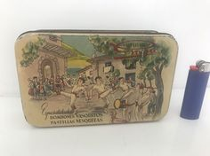 Scatola di latta blechdose boite tole tin box vintage Confituras Goya
