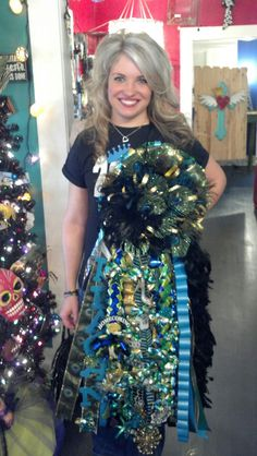 Credit to @snozmom wouldve KILLED for a mum like this a couple years ago! Pleasanton 2012 Homecoming Mum!  Trailer Park Trinkets Senior