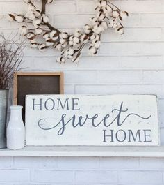Home sweet home rustic wood sign rustic wall by CherieKaySigns