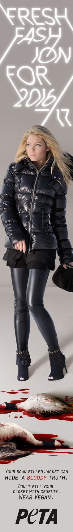 There's nothing quite like the feeling of a down jacket in the winter. Layer your look with silver accent pieces and tie it all together with a black clutch. #NYFW #NewYorkFashionWeek #Fashion #FashionWeek #Down #DownJacket