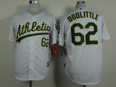 Oakland Athletics #62 Sean Doolittle White Jersey