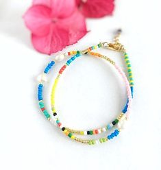 Colourful Beaded chocker necklace/Boho necklace/Beaded Choker necklace/Colourful Beaded necklace/summer necklace/Layering necklace by Pearlsbymimmi on Etsy Beaded Chocker, Beaded Choker Necklace, Beaded Collar, Gemstone Necklace, Beaded Bracelets, Necklaces, Summer Necklace, Necklace Lengths, Chokers