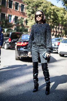 On the street at Milan Fashion Week. Photo:Chiara Marina Grioni