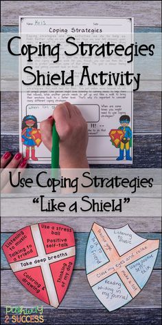 Use coping strategies like a shield! Teach kids that coping strategies are their shield from stress and tough emotions! Kids will create their own coping strategies shield, add strategies, and color it in! Perfect for a superhero theme or just to make the Coping Skills, Social Skills, Social Work, Life Skills, Therapy Activities, Activities For Kids, Kids Therapy, Therapy Ideas, Art Therapy
