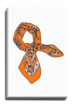 Orange Scarf Canvas Art