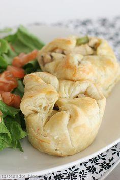 Muffin Tin Pot Pies | Great idea to make mini pot pies! I would veganize them.