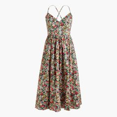 ca99e6fde4 Lace-up back dress in Liberty® Thorpe floral