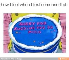 Texting someone first