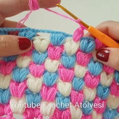 We think that who loves crochet most of people also loves Puff Stitch. Crochet Ripple, Love Crochet, Baby Blanket Crochet, Vintage Crochet, Crochet Flowers, Knit Crochet, Diy Crafts Crochet, Crochet Projects, Crochet Stitches Patterns