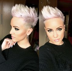 Trend Short Spiky Hairstyles for Women Funky Short Hair, Short Blonde, Short Hair Cuts, Short Hair Styles, Pixie Cuts, Short Spiky Hairstyles, Cool Hairstyles, Hairstyles Pictures, Blonde Hairstyles