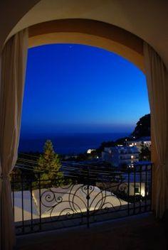 Mrs Corn's Newport Clambake Wedding - view from veranda at J. W. Marriott on the island of Capri, Italy
