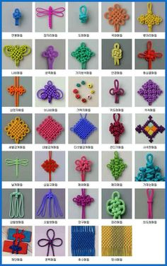 Chinese Knot Macrame Rattail Beading Cord Thread Wire … - Gardening - Home Decor - Wedding - Women's Fashion - Diy and Crafts Macrame Knots, Micro Macrame, Rope Knots, Macrame Art, Macrame Jewelry, Types Of Knots, Craft Projects, Sewing Projects, Craft Ideas