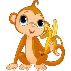 Funny Monkey with banana. Illustration of funny Monkey with banana , Cartoon Monkey, Baby Cartoon, Cartoon Pics, Cute Cartoon, Cartoon Picture, Cartoon Clip, Free Monkey, Monkey Girl, Blue Bird Art