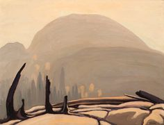 Lawren Harris - Morning Sun Over Hill Lake Superior (Lake Superior Sketch XXVII) x Oil on beaverboard David Milne, Clarence Gagnon, Tom Thomson, Montreal Museums, Emily Carr, Famous Portraits, Group Of Seven, Jack Rabbit, Morning Sun