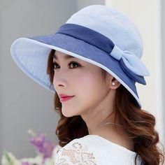 a6c7a58943b Simple flower silk sun hat for women summer bucket hats UV protection