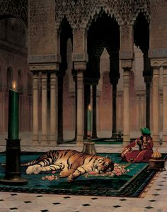"""The Grief of the Pasha"" (1882), by Jean-Léon Gérôme."