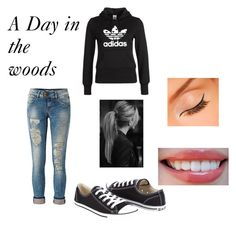 """A Day in the woods"" by hannahbanana-133 ❤ liked on Polyvore featuring LTB by Little Big, adidas Originals and Converse"