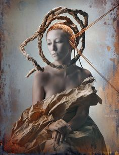 portraits with hairstyles by Petr Dmitriev by Vadim Stein, via Behance