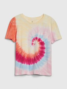 Shop Gap's Kids Tie-Dye Pocket T-Shirt: Soft knit. , Patch pocket at chest. Kids Tie Dye, Kids Ties, Cute Tops For Girls, Tie Dye Patterns, Gap Kids, Baby Kids Clothes, Kids Fashion, Girl Outfits