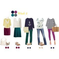 Work Capsule Wardrobe 2: Berry, Teal & Navy