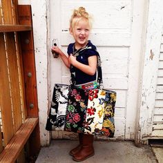 Hey where are you going with my bag??? Our weekenders make great diaper bags too!