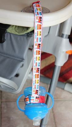New Mom Must Have- Suction Sippy Strap by ChunksBabyJunk, $10.00
