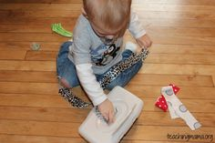 Perfect! Great alternative to the pulling ALL of the wipes out of the box obsession :) 20 Ways to Keep Toddlers Busy