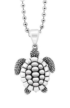 Fashion Small Cute Silver Tone Faux Abalone Shell Happy Walking Turtle Necklace
