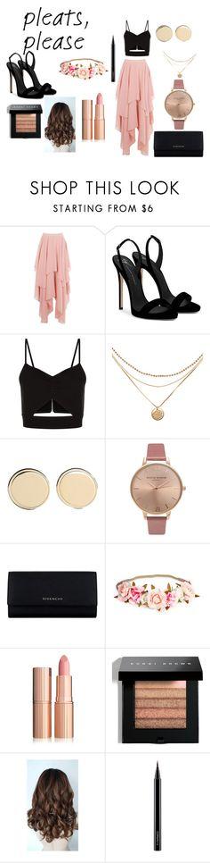 """classy"" by hithaishi on Polyvore featuring Giuseppe Zanotti, Racil, Givenchy, Olivia Burton, Bobbi Brown Cosmetics and MAC Cosmetics"
