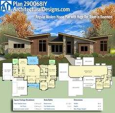Architectural Designs Modern House Plan 290068IY gives you over 2,300+ sqaure feet of heated living space with 3 or 4 beds and 2+ baths.Gives you an optional lower level (1,700+ square feet). Ready when you are. Where do YOU want to build? #290068IY #adhouseplans #architecturaldesigns #houseplan #architecture #newhome #newconstruction #newhouse #homedesign #dreamhome #dreamhouse #homeplan #architecture #architect #modern #modernhomedesign #modernhouse #housegoag