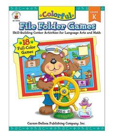 Colorful File Folder Games Kindergarten Paperback #zulily #zulilyfinds
