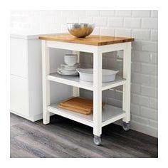 STENSTORP Kitchen trolley, white, oak - IKEA