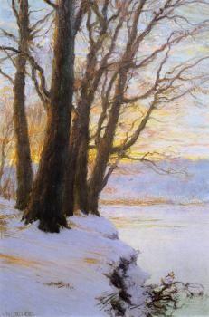 Hudson River Sunset - Walter Launt Palmer - The Athenaeum