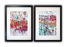 ABSTRACT ART 2 x A4 KOMPOSITION 24 Original Unikat von Abstract Art & Graphic Design auf DaWanda.com