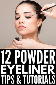 Powder Eyeliner 101 | Want to know how to apply eyeshadow eyeliner? We're sharing the best products,  brushes, application tips, beauty hacks, and step-by-step tutorials to teach you how to apply eyeliner like a pro. Whether you prefer to sport simple or winged eyeliner, opt for natural brown and black eyeliner shades, or gravitate toward bolder looks, this post has it all. #howtoapplyeyeliner #eyelinerhacks #EyelinerWaterline Prom Makeup Looks, Fall Makeup Looks, Winter Makeup, Contour Makeup, Eye Makeup Tips, Smokey Eye Makeup, Highlighting Contouring, Eyeliner Ideas, Mayonnaise Hair Treatments