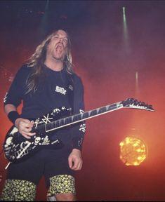 Slayer's Jeff Hanneman All Music Instruments, Jeff Hanneman, Kerry King, Jackson Guitars, Metal Horns, Black Label Society, Heavy Metal Bands, Thrash Metal, Types Of Music
