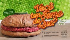"""Você tem fome de que? Você sabia que existe arte para comer com os olhos e com a boca? Que existem artistas que utilizam alimentos para produzir arte? Essas e outras curiosidades as crianças irão descobrir no Curso de Férias """"Você tem fome de que?"""", realizado pela Escolinha de Arte do Recife, no período de 04 a 28 de janeiro de 2016."""