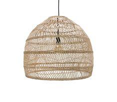 HKLiving Wicker hanglamp driehoek riet wordt gratis thuisbezorgd met 60 dagen gratis retourgarantie - Basiclabel
