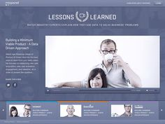 Video Gallery landing page design for Mixpanel