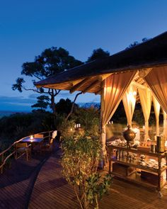 Kenya, five-star safari camp..my kind of camping!