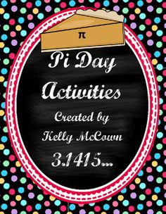 These Pi Day Activities are a guide for you as you plan Pi day in your classroom. There is a list of activities as well as three FREE activities included in the packet.