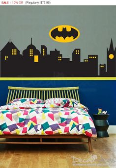 Decorate your room from our super hero wall decor Series. This Superhero Gotham City Skyline Sticker is High Quality non Toxic Eco Friendly Vinyl