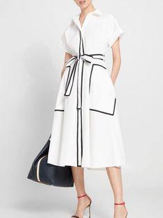 Simple Dresses, Casual Dresses, Beach Dresses, Dresses For Work, Vestidos Carolina Herrera, Hijab Stile, Dress Outfits, Fashion Dresses, Frack