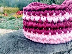 PASO A PASO CESTA DE TRAPILLO REDONDA/T-SHIRT YARN BASKET - YouTube